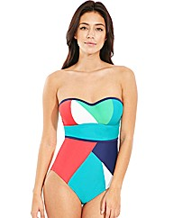 Cape Underwired Bandeau Swimsuit