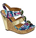 Ravel Jazz jewelled wedge sandal