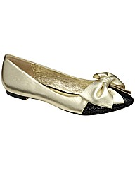 Ravel Katie bow pump ballerina shoe