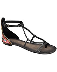 Ravel Jules jewelled flat strappy sandal