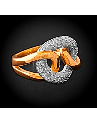 9ct YG 0.50ct Diamond Loop Ring