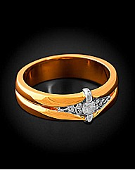 Gold Plated Diamond Set Ring