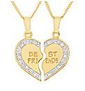 Gold Plated Best Friend Split Pendant