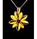 GPS Black Diamond Sunflower Pendant