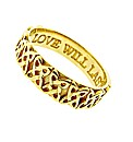 9ct Yellow Gold Ladies Commitment Ring
