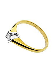 9ct Yellow Gold 0.11ct Diamond Ring