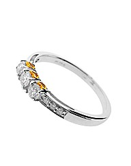 9ct White Gold Diamond Romancing Ring