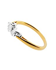 9ct YG 0.35ct Diamond Trilogy Ring
