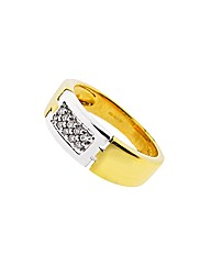 9ct YG Ladies 0.10ct Eternity Ring