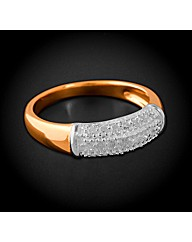 Gold Plated Silver 0.25ct Pave Ring