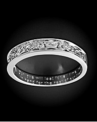 9ct WG Diamond Set Together Forever Ring