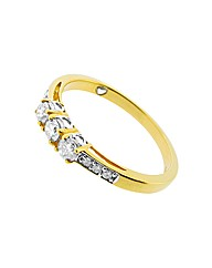 9ct YG Trilogy Diamond Romancing Ring