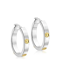 9ct Gold Hoop with Yellow Gold Bolts