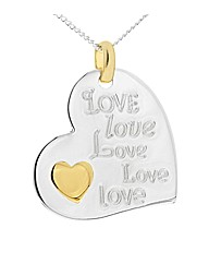 Silver Heart Message Pendant