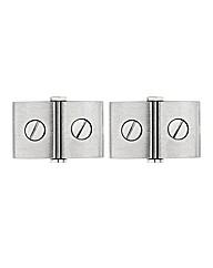 Stainless Steel Screw Design Cufflinks