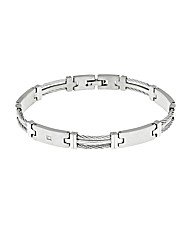 Titanium Steel Diamond Set Bracelet