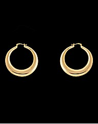 Gold Plated Large Creole Earrings