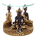 Brown and Gold Thai Buddha Oil Burner