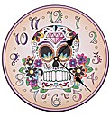 Day of the Dead Skull Picture Clock