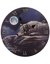 Lisa Parker Night of the Wolf Clock