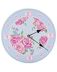 Laura Bell Chintz Picture Clock