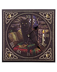 Magic Themed Black Cat Picture Clock
