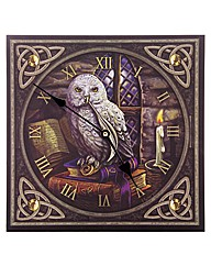 Magic Themed Owl Fantasy Picture Clock