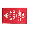 Keep Calm and Carry On Rug