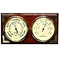 Polished Wood Barometer/Thermometer