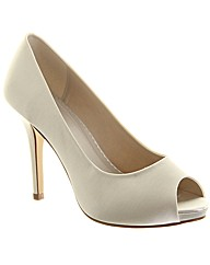 Rainbow Club Jennifer Peep Bridal Shoe