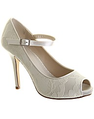 Rainbow Club Nina Peep Toe Wedding Shoe