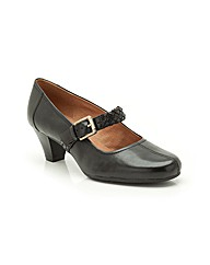 Clarks Fearne Dew Shoes Wide Fit