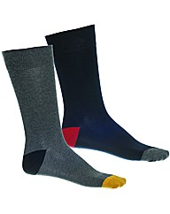 Walktall Contrast Heel Toe Sock