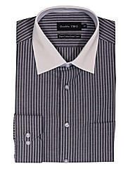 Double TWO White Collar Formal Shirt