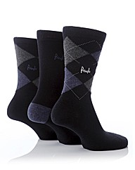 Pringle 3 Pack Argyle Cotton Lycra Socks