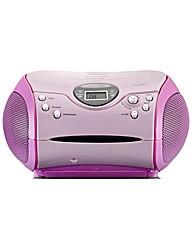 Lenco Portable Radio CD Player - Pink