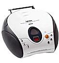 Lenco Portable Radio CD Player - White