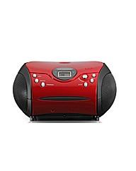 Lenco Portable Radio CD Player - Red