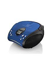 Lenco Portable Radio CD Player - Blue