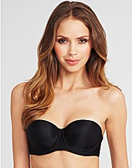 Smoothing strapless bra