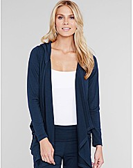 Waterfall Drape Hooded Cardigan