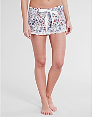 Forget Me Not Floral Print PJ Short