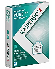 Kaspersky pure 3.0 3 user 1 year dvd bs