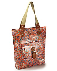 Kangol Orange Floral Print Shopper