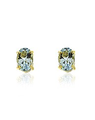 9ct Gold Aquamarine Earrings