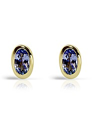 9ct Yellow Gold Tanzanite Earrings