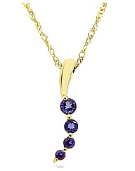 9ct Gold Tanzanite Pendant