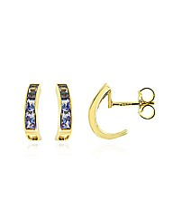 9ct Gold Tanzanite Earrings