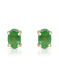 9ct Gold Emerald Earrings
