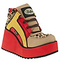 Buffalo Sporty Leopard Wedge